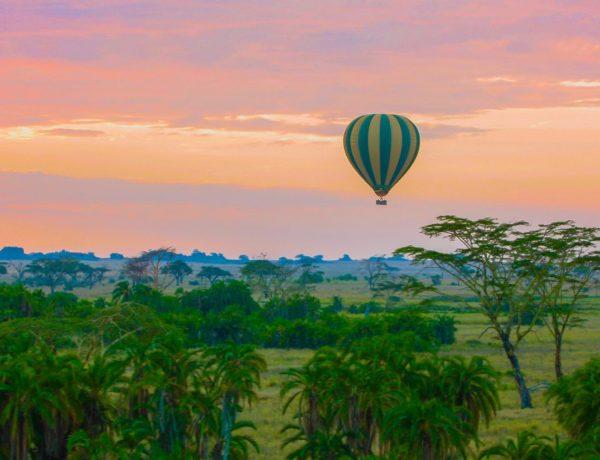 Med luftballong over Serengeti