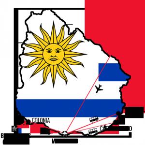 Min reiserute Uruguay