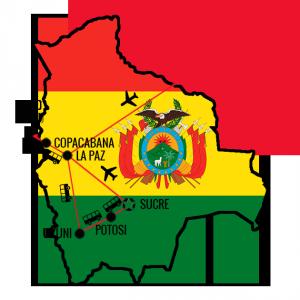 Min reiserute Bolivia