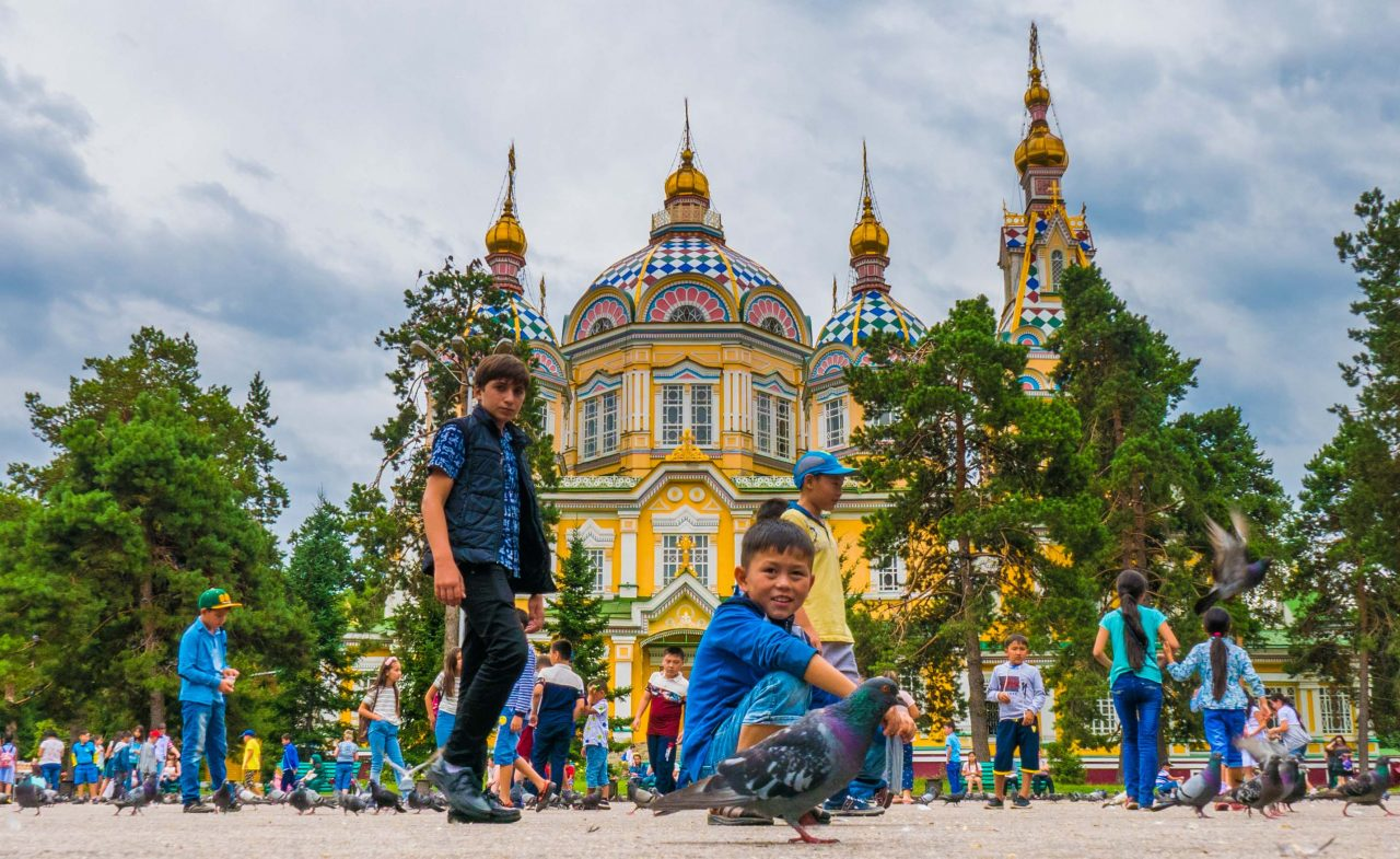 Zenkov-katedralen Almaty