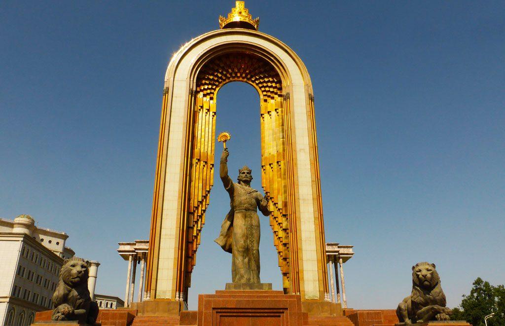Ismail Somoni-statuen Dusjanbe Tadsjikistan
