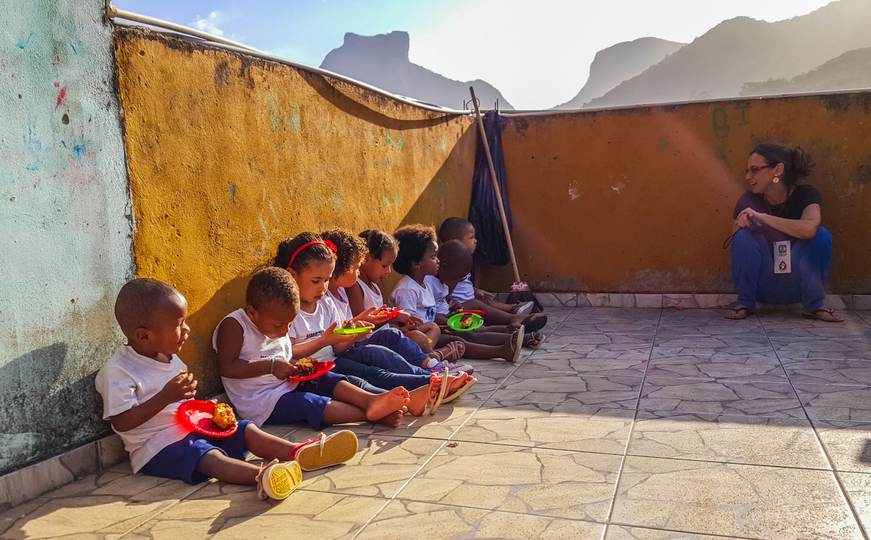Barnehjem i Rocinha-favelaen i Rio de Janeiro