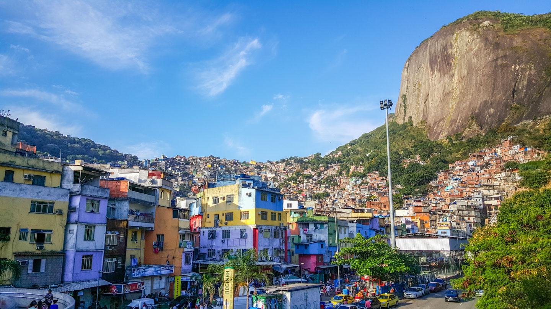 Rocinha-favelaen i Rio de Janeiro