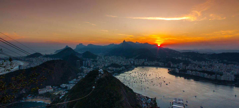 Solnedgang Sukkertoppen Rio de Janeiro