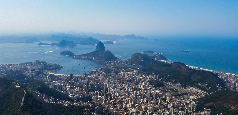 Utsikt fra Corcovado-fjellet i Rio de Janeiro