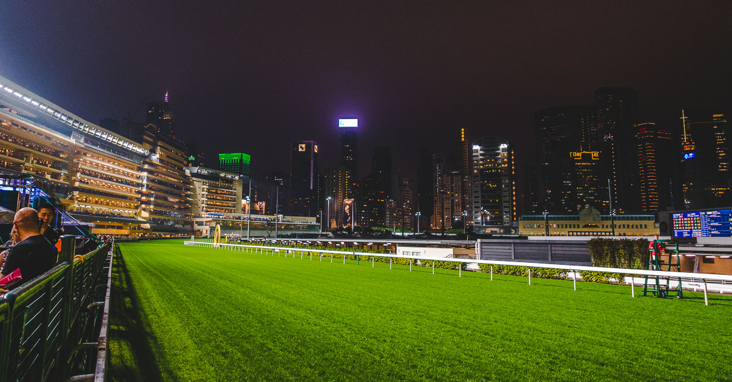 Happy Valley Racecourse i Hong Kong.
