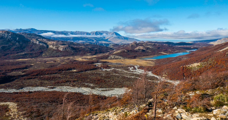 På vei opp til Laguna de los Tres i Patagonia, Argentina