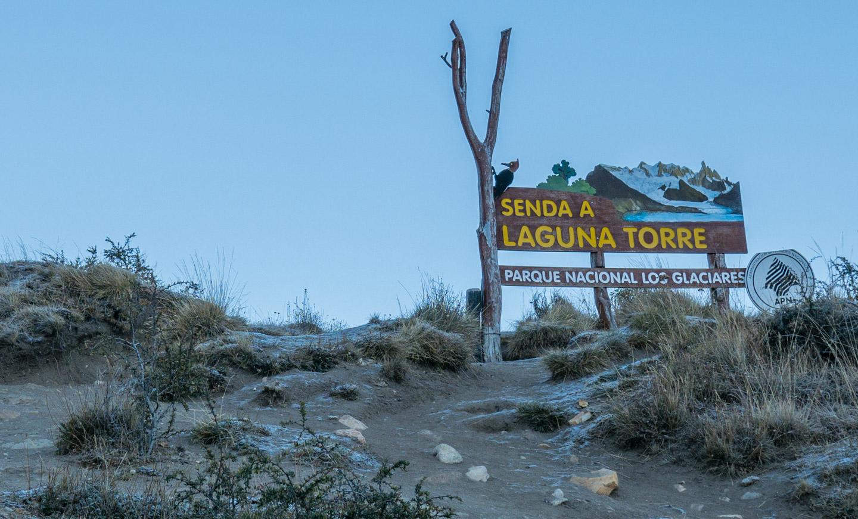 Skilt til Cerro Torre, Patagonia, Argentina