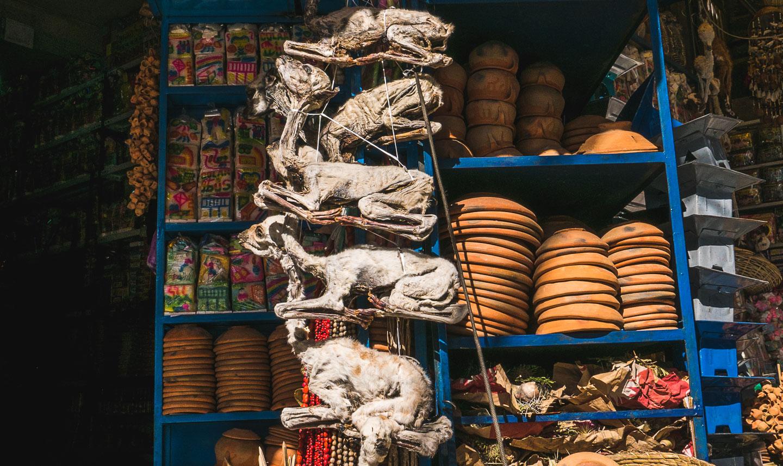 Heksemarkedet i La Paz, Bolivia