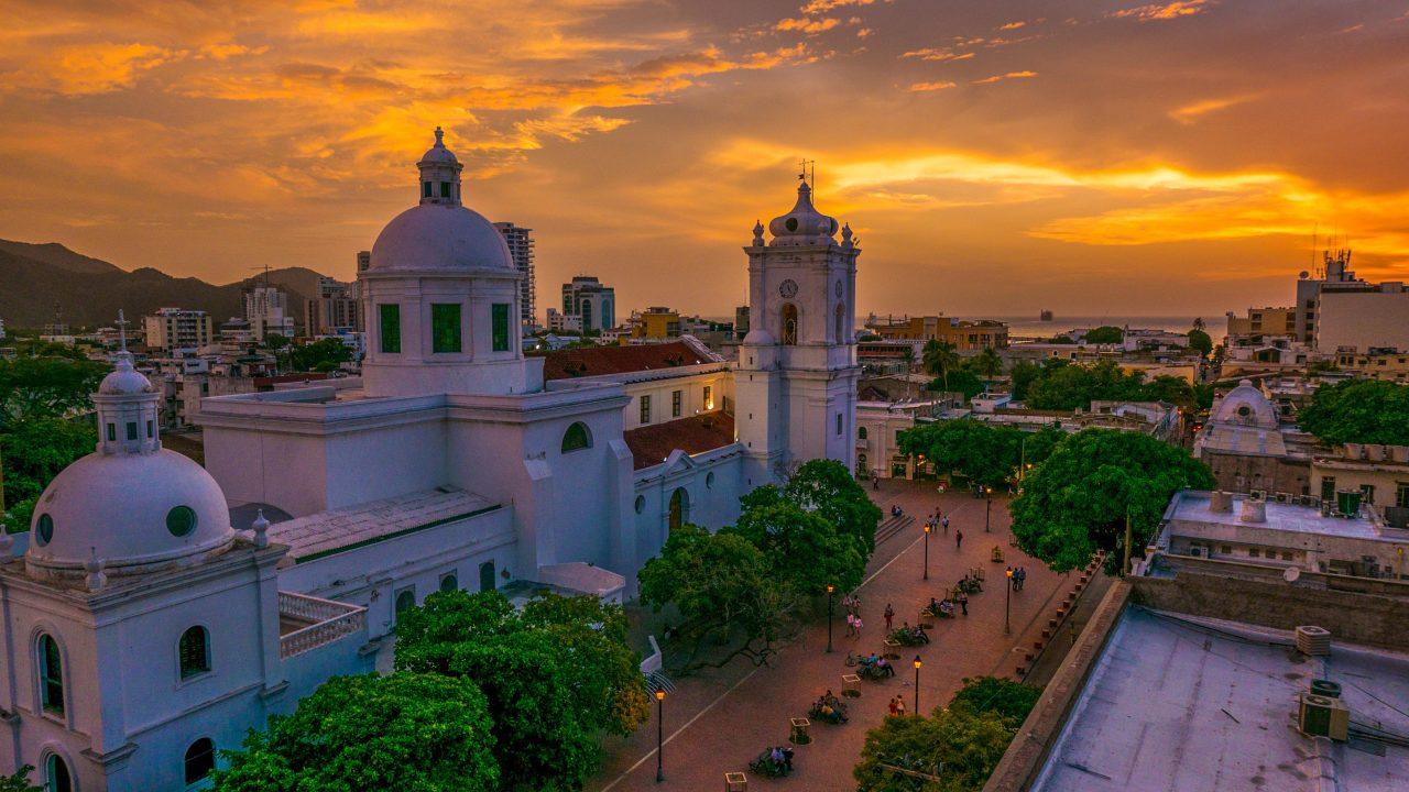 Solnedgang Santa Marta