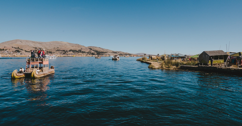 Uros-øyene på Titicacasjøen i Peru.