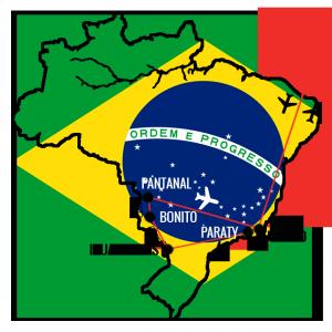 Min reiserute Brasil