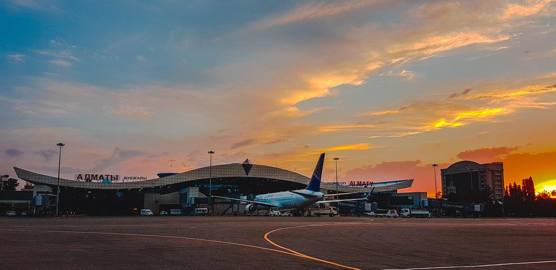 Flyplassen i Almaty