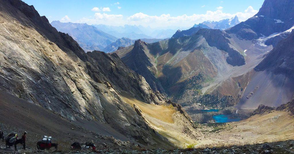 Aluaddin lakes Tadsjikistan