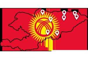 Min reiserute Kirgisistan