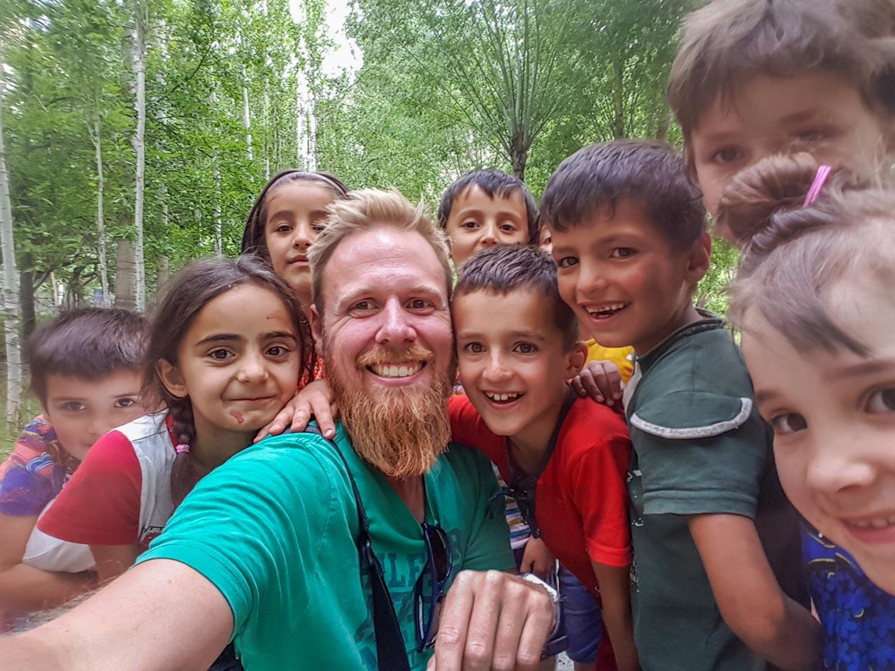Lokale barn, Bartang-dalen, Tadsjikistan