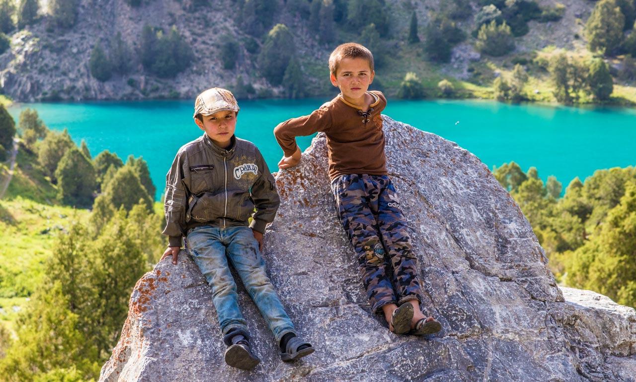 Barn i Fannfjellene Tadsjikistan