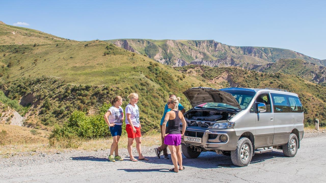 Motorstopp Pamir Highway Tadsjikistan