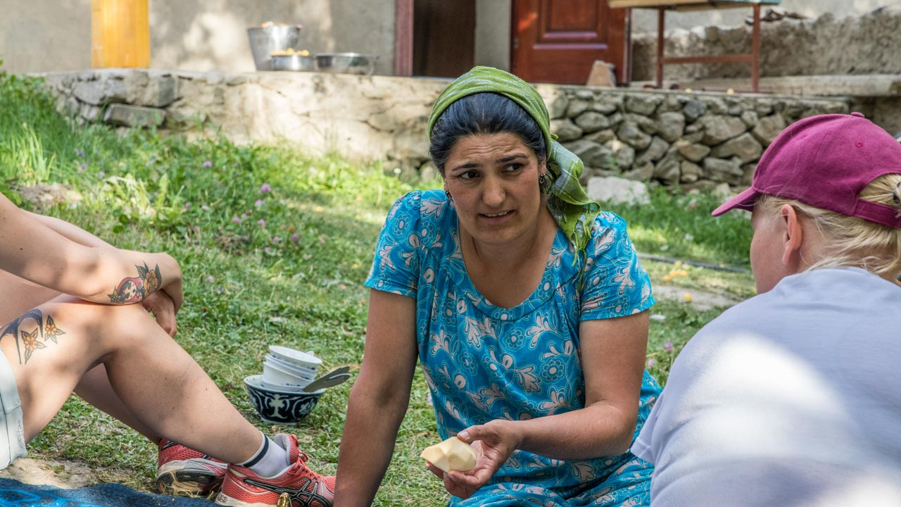 Lokal kvinne Bartang-dalen, Tadsjikistan
