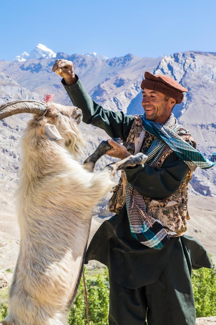 Lokal gjeter, Wakhan-korridoren, Pamir Highway, Tadsjikistan