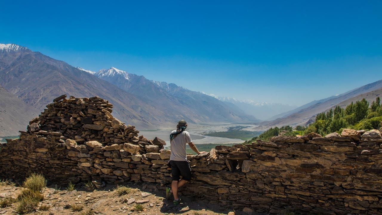 Yamchun-festningen, Wakhan-korridoren, Pamir Highway, Tadsjikistan