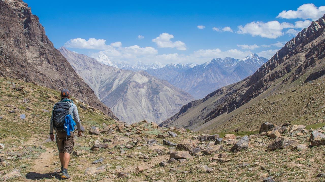Hindukush-fjellene, Wakhan-korridoren, Pamir Highway, Tadsjikistan