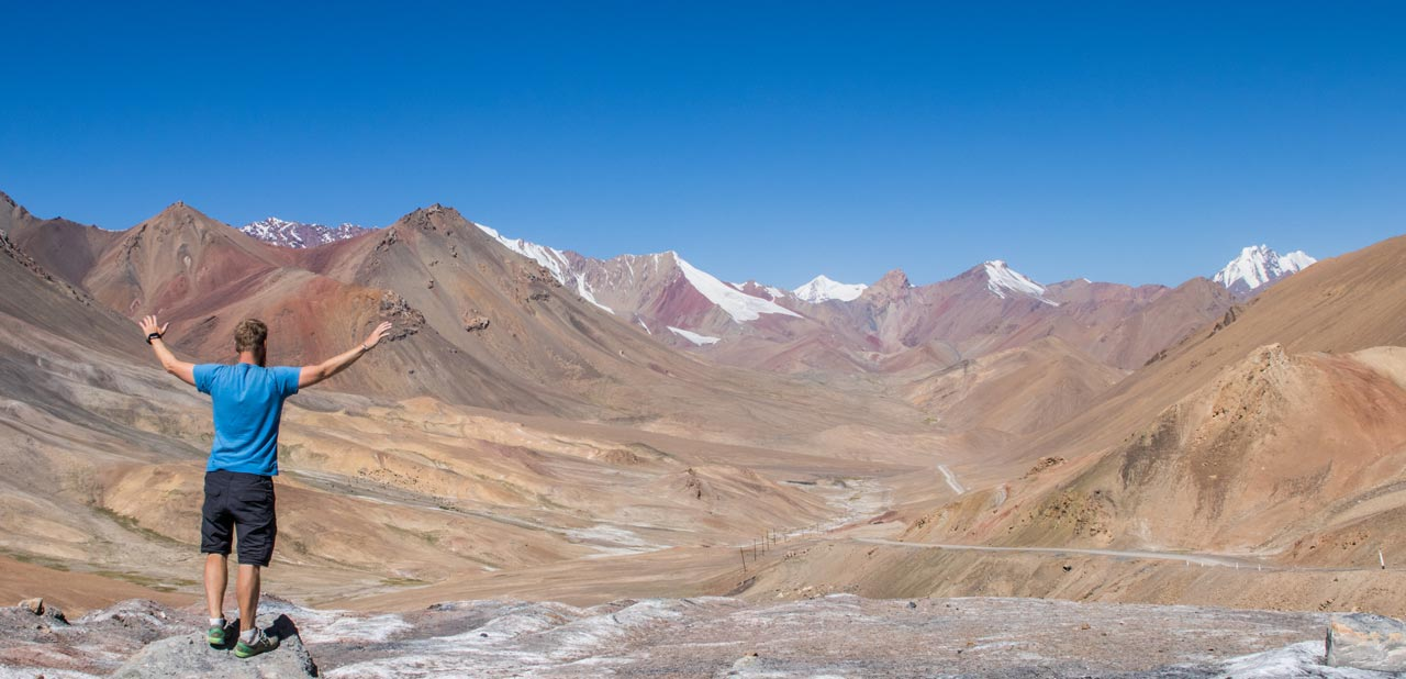 Ak Baital-passet, Pamir Highway, Tadsjikistan