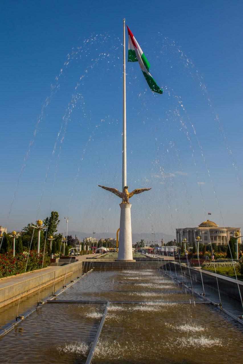 Flaggstang Dusjanbe Tadsjikistan