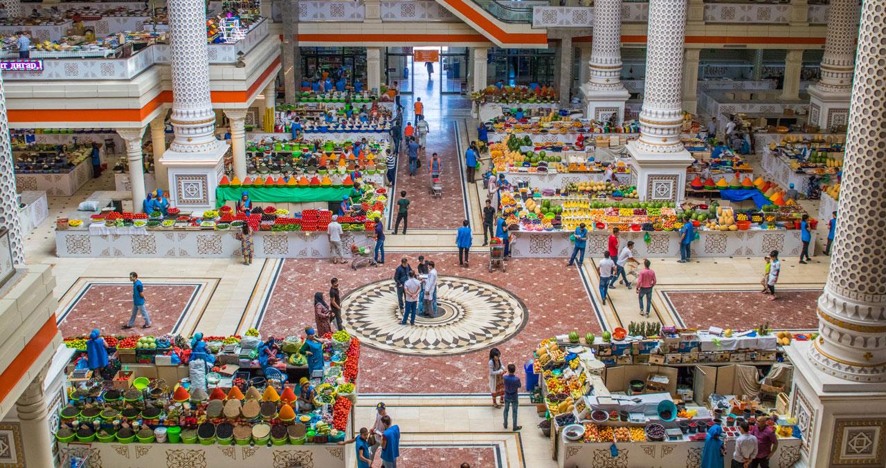 Green Bazaar Dusjanbe Tadsjikistan