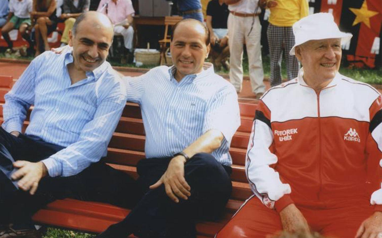 Adriano Galliani, Silvio Berlusconi og Nils Liedholm