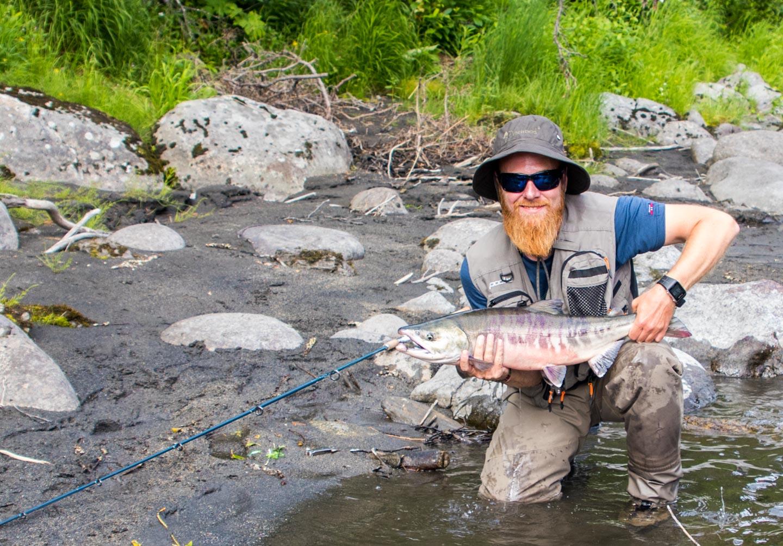 Anders Hakstun laksefiske Alaska