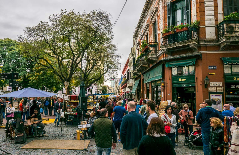 Søndagsmarked San Telmo Buenos Aires