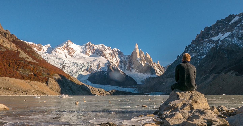 Laguna Torre ved foten av Cerro Torre, Patagonia, Argentina