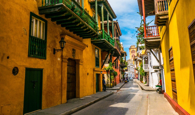 Gamlebyen i Cartagena, Colombia