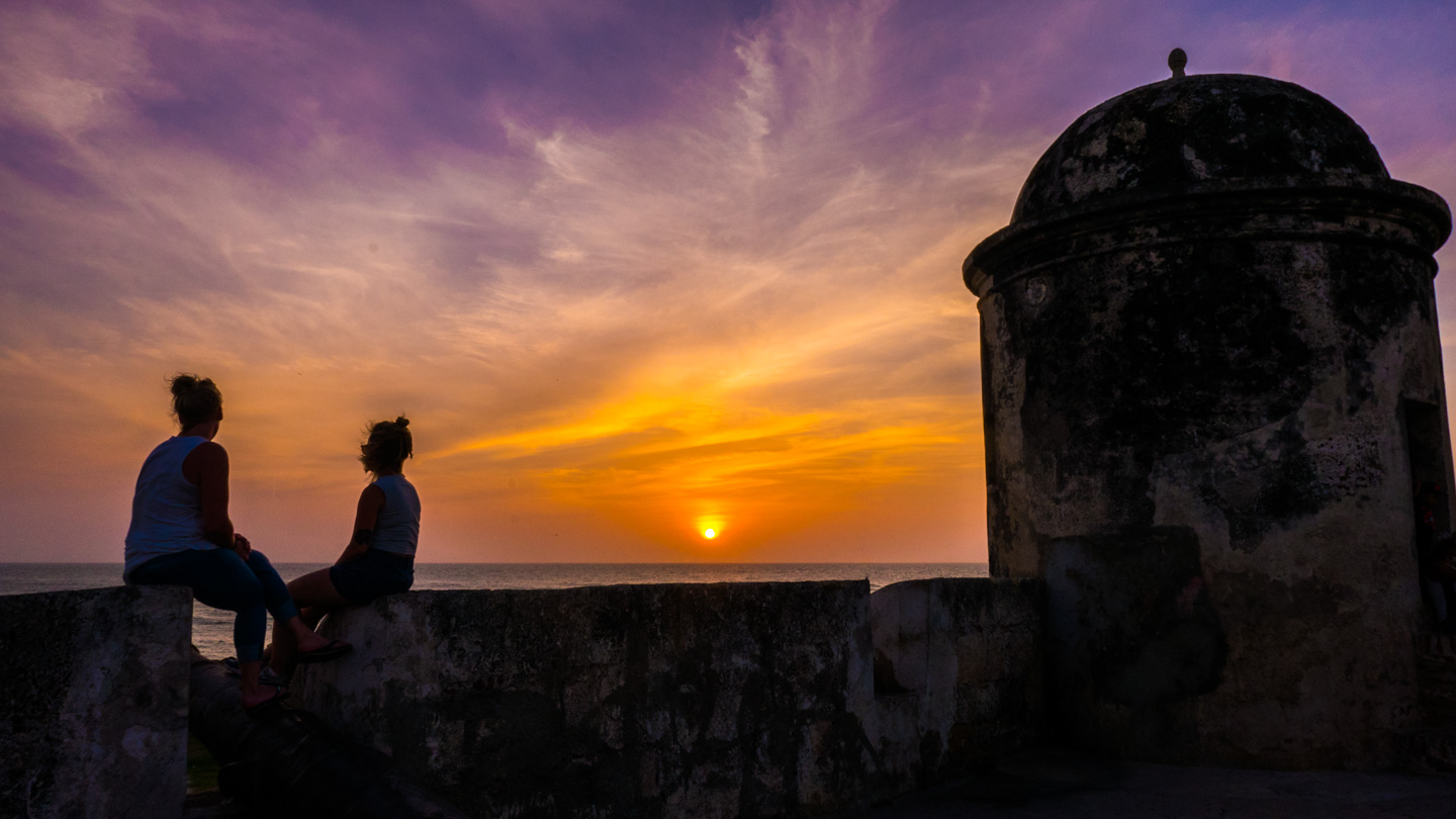 Solnedgang, Cartagena, Colombia