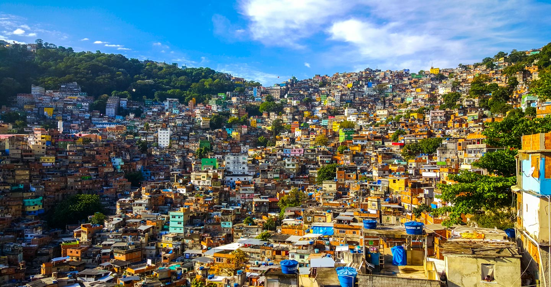 Rocinha-favelaen Rio de Janeiro
