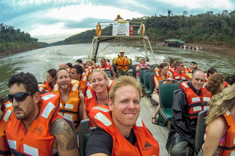 Båt Iguazu Falls
