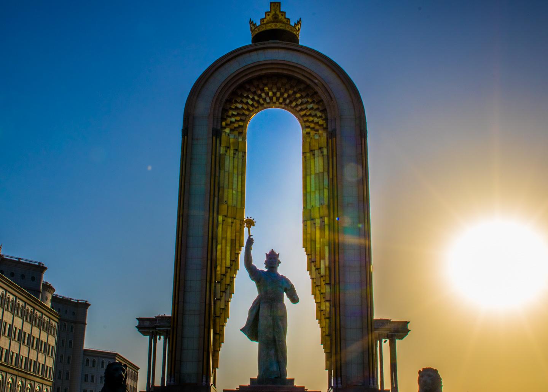 Ismail Somoni-monumentet Dusjanbe Tadsjikistan