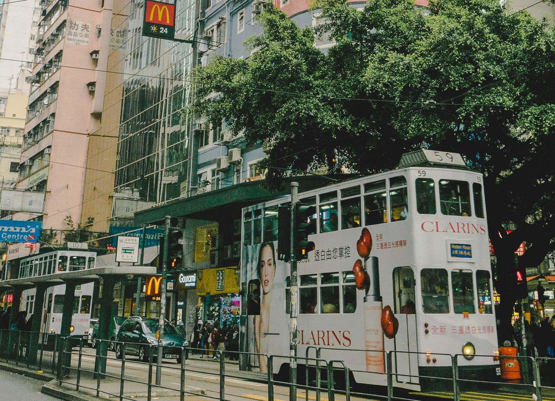 Trikk i Hong Kong.