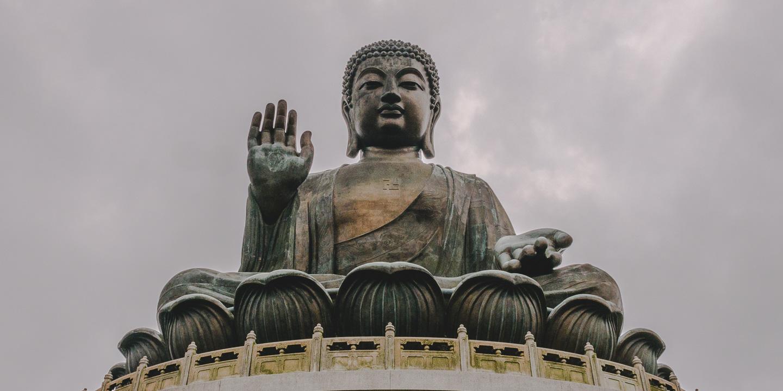 Tian Ta Buddha (Big Buddha) i Hong Kong.