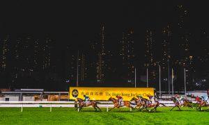 På gamblerkjøret på Happy Valley Racecourse