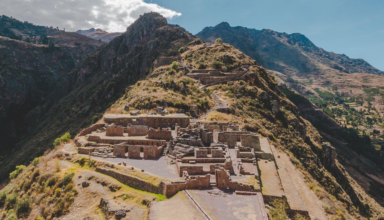 Pisac i Den hellige dalen ved Cusco i Peru