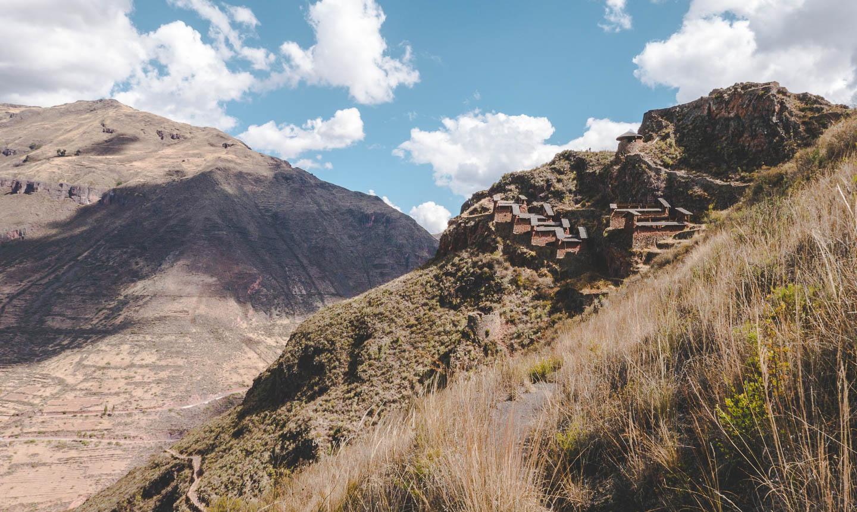 Pisac i Den hellige dalen, rett ved Cusco i Peru.