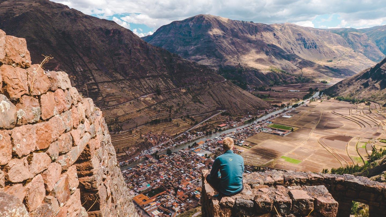 Pisac i Den hellige dalen, rett ved Cusco i Peru