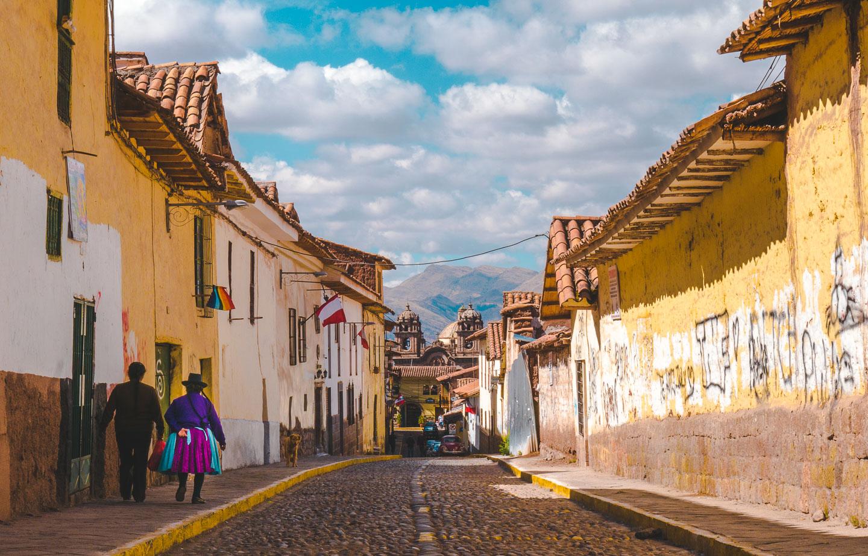 Gamlebyen i Cusco
