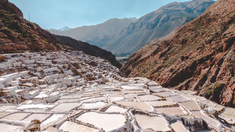 Saltgruvene i Huaran i Peru.