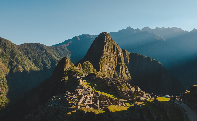 Macchu Picchu i Peru