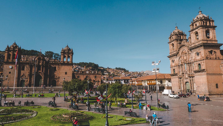 Plaza de Armas i Cusco, Peru.