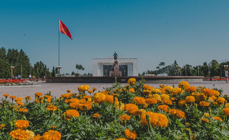 Ala-Too-plassen i Bisjkek, Kirgisistan