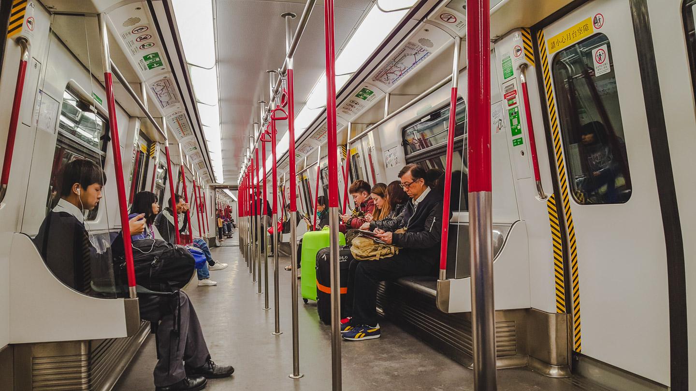 Metroen (MTR) i Hong Kong.